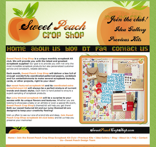 Sweet Peach Crop Shop Scrapbooking Kit Club